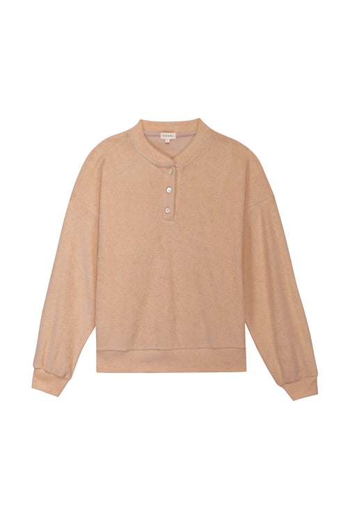 Terry Henley Sweatshirt Latte
