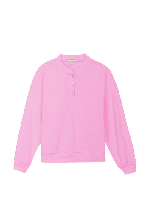 Terry Henley Sweatshirt Flamingo