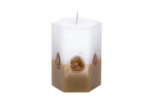 Crystal Hexagon Candle