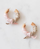 Silk Summer Hoops