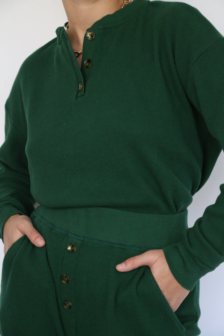 thick thermal pullover