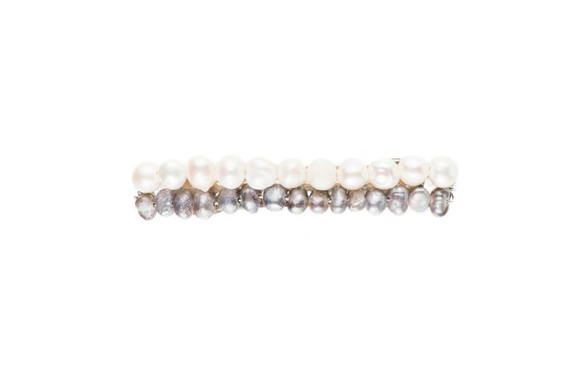Mini Pearl 2-Tone Barrette