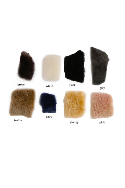 shearling slipper slides