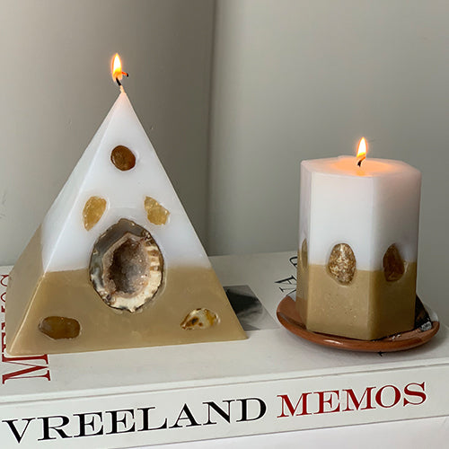 Crystal Pyramid Candle