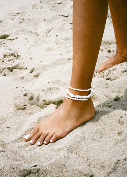 Stick Pearl Anklet