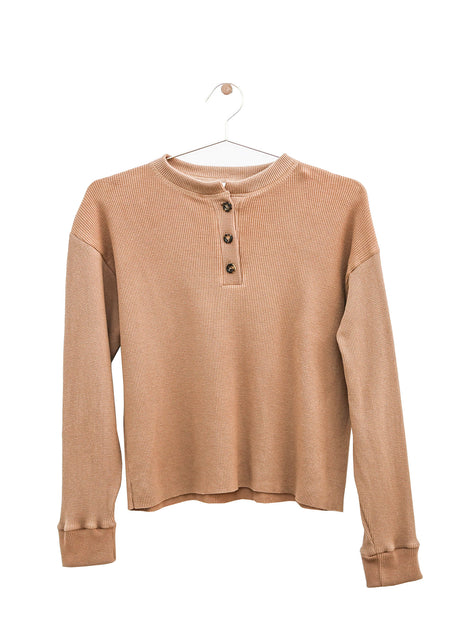 Thermal Ruffle Tee - Long Sleeve