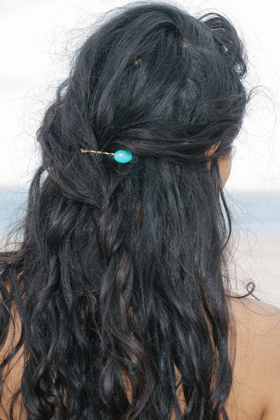 Turquoise Howlite Bobby Pin