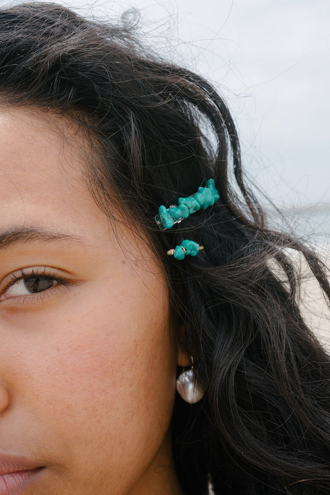 Turquoise Bobby Pin
