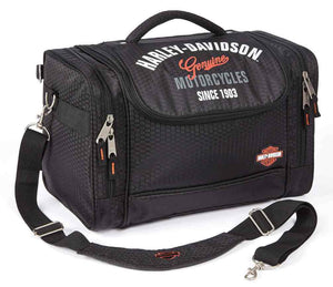Harley-Davidson® Extreme Hop Along IV Honeycomb Fabric Bag, Black