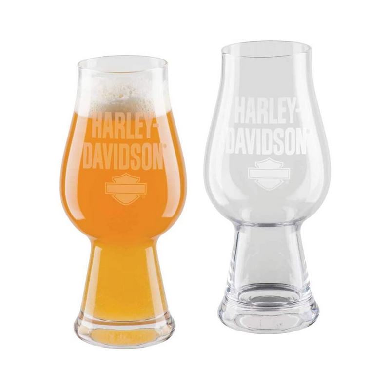 HARLEY-DAVIDSON ETCHED IPA GLASSES SET