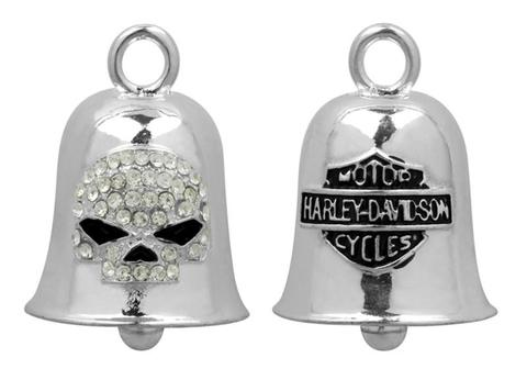 WHITE CRYSTAL WILLIE G SKULL RIDE BELL