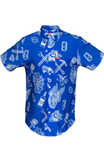 PARTY BOY BLUE SHORT SLEEVE