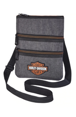 HARLEY-DAVIDSON WOMEN'S X BODY CROSSBODY SLING PURSE - GRAY