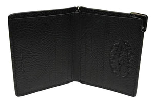 Harley-Davidson® Men's Gunmetal Leather Short Biker Bi-Fold Wallet