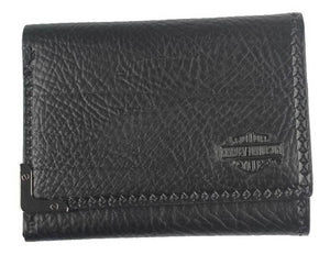 Harley-Davidson® Men's Gunmetal Bar & Shield Leather Tri-Fold Wallet