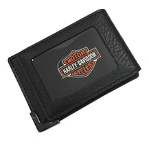 Harley-Davidson® Men's Gunmetal Leather ID Cards Front Pocket Wallet
