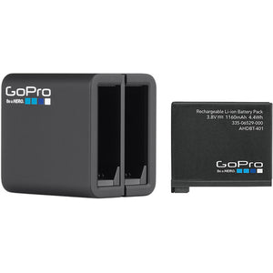 GOPRO DUAL BATTER CHARGER W/BATTERY
