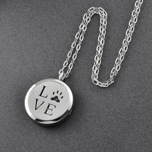 Essential Oil Diffuser Necklace - Love Paw