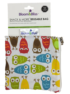 Reusable Snack Bags - Hoot Owls
