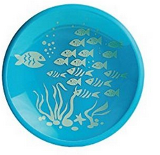 Brinware Tempered Glass Plate 2 Pk - It's a Hoot and School of Fish