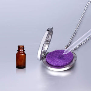 aromatherapy necklace - essential oils