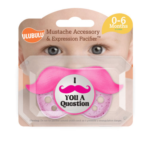 Ulubulu Pacifier with Mustache - Girl 0 - 6 Months