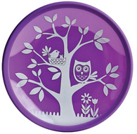 Brinware It's a Hoot Purple Glass Plate 2pc set