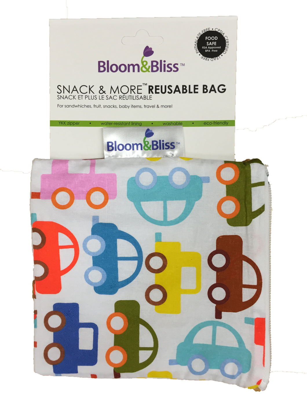 Reusable Snack Bags - cars