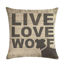 Live Love Woof Decorative Cushion Cover
