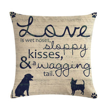 Love is Wet Noses, Sloopy Kisses, & Wagging Tails Decorative Cushion Cover