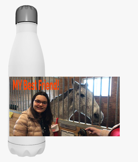 Customized Water Bottle - 17oz with your Photo