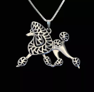 Dog Pendant Necklack for Women - Silver Plated