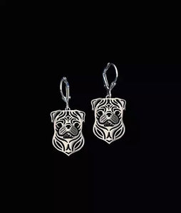 Dog Earrings Silver Plated