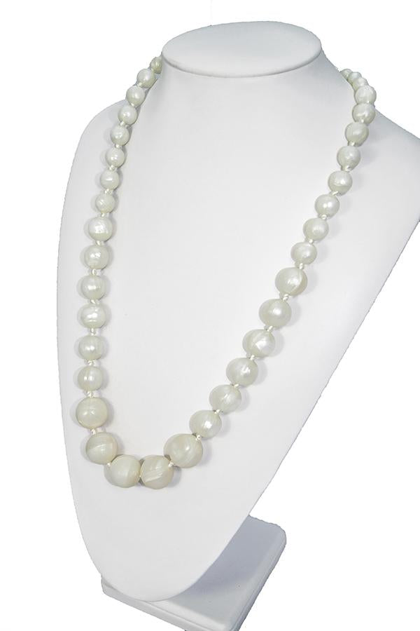 Chewy Jewels Silicone Teething Necklace - Radiant Pearl