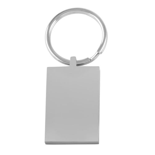 Stainless Steel Engravable Rectangular Keychain