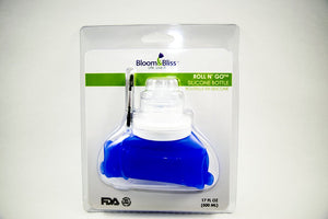 Blue roll up silicone waterbottle