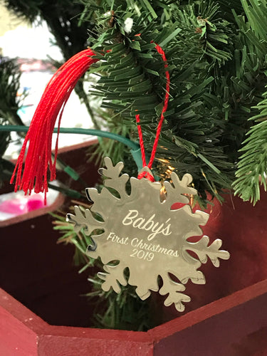 Custom Snowflake Ornament - Personalized