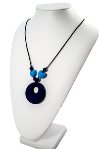 Chewy Jewels Mothers Heart Blue necklace