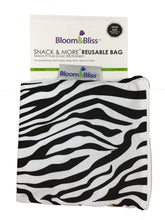 Reusable Snack Bags - Zebra