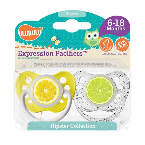 Ulubulu Pacifer 2pc Set - Lemon / Lime 6 - 18 Months