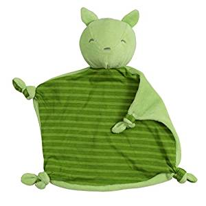 Green Sprouts Organic Blankie Animal Green Fox 3Mo+