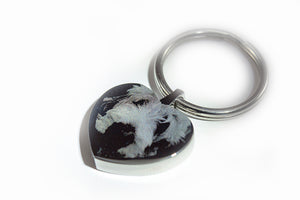 Stainless Steel Engravable Heart Keychain