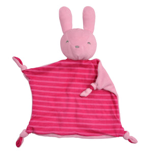 Green Sprouts Organic Blankie Animal Pink Bunny 3Mo+