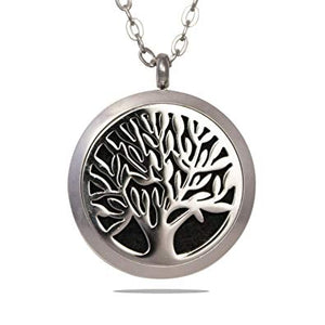 Aroma Therapy Essential Oil Diffuser Necklace - Tree of Life