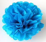 "(Set of 10) - 10"" Tissue Paper Pom Poms - Other Colors Available"
