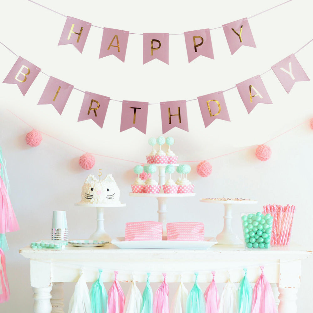 Set of 20 Birthday Decoration Kit Pink or Blue Pretty Party Decor