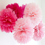 (Set of 9) - Decoration Kit - Mixed Colors of Light Pink, Fuschia, Red & White