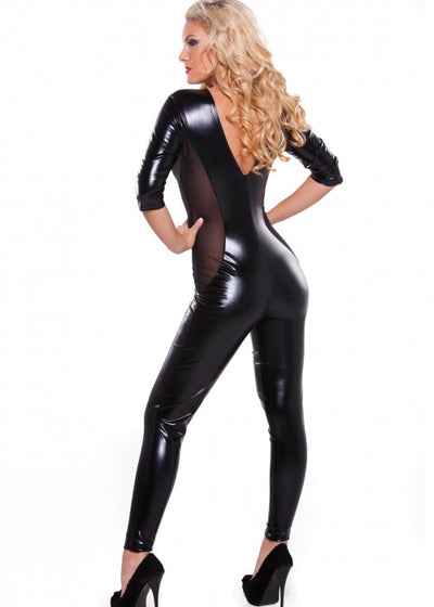 Kitten Mesh Catsuit One Size
