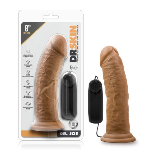 Dr. Skin Dr. Joe 8in Vibrating Cock With Suction Cup Mocha