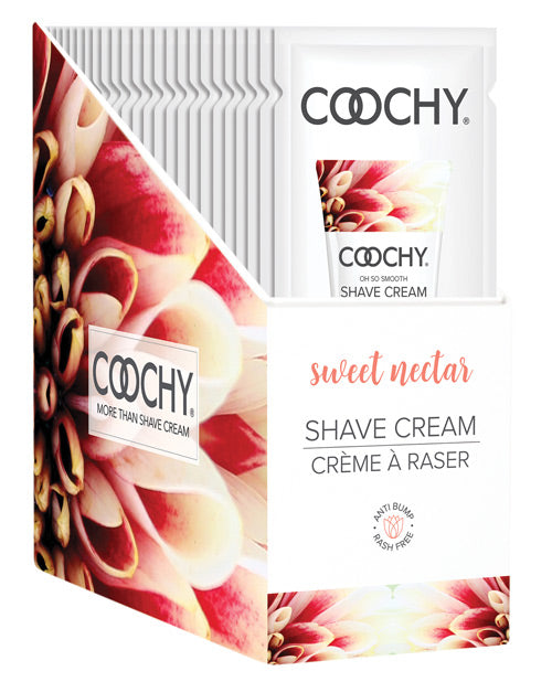 Coochy Shave Cream Sweet Nectar Foil 15 Ml 24 Pieces Display